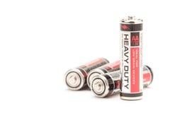 Batterien auf Weiß Lizenzfreie Stockfotos