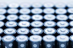 Batterien in der Reihe Stockfotografie