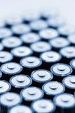 Batterien in der Reihe Lizenzfreies Stockfoto