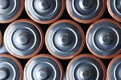 Batterien in der Reihe Lizenzfreies Stockbild
