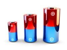 Batterier royaltyfri illustrationer
