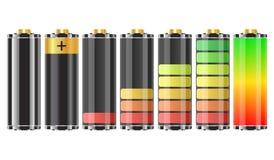 batterier 3d Vektor Illustrationer