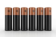 Batterier på vit bakgrund Royaltyfria Bilder