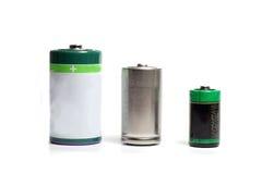 batterier tre Arkivbilder