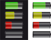 Batteries. With fuel status on black and white Royalty Free Illustration