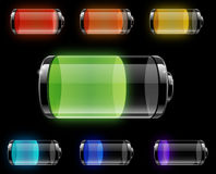 Batteries. With different levels of charging Stock Photography