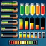 Batteries. Illustration of Batteries. Design Icons royalty free illustration