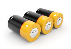 Batteries. On a white background Stock Photos