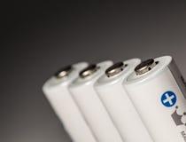 Batteries. A Line of rechargeable batteries (accumulators stock images