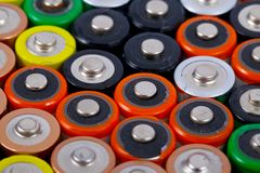 Batteries Images stock