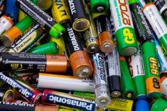 batteries Photos libres de droits