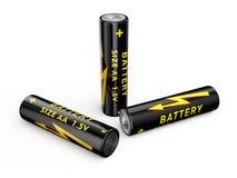 Batteries aa illustration libre de droits