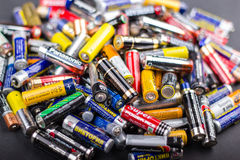 Batteries AA size Stock Image