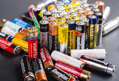 Batteries AA size Stock Photography