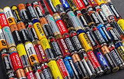 Batteries AA size Stock Photos