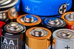 Batteries and accumulators. Batteries and accumulators close up Royalty Free Stock Image