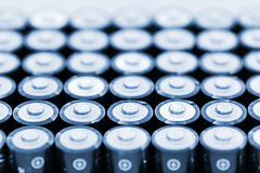 Batteries in array Stock Photography