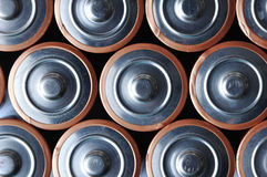 Batteries in array Royalty Free Stock Image