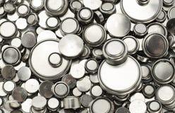 Batteries au lithium de diverses tailles Photographie stock