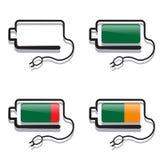 Batteries avec des vues créatives photo libre de droits