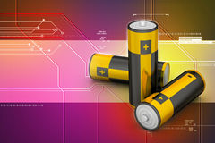 Batteries in  background Royalty Free Stock Photography