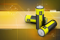 Batteries in  background Stock Photography