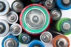 Batteries background Royalty Free Stock Image