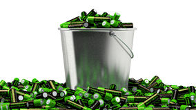 Batteries in a bucket Stock Photography