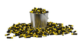 Batteries in a bucket Royalty Free Stock Photography
