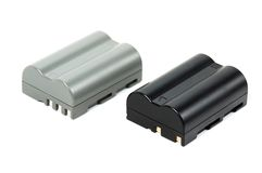 Batteries for the camera Stock Photography