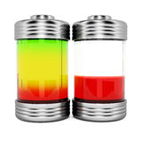 Batteries with charge level Royalty Free Stock Images