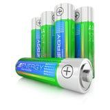 Batteries class AA Royalty Free Stock Photos