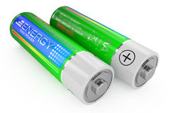 Batteries class AA Royalty Free Stock Photos
