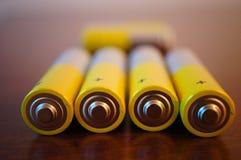 Batteries d'aa Images libres de droits