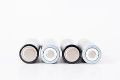 4 batteries d'aa Image libre de droits