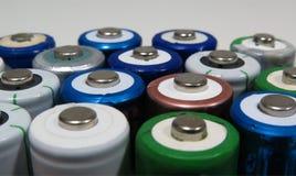 Batteries d'aa Photographie stock libre de droits