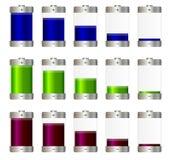 Batteries d'aa réglées Illustration Images libres de droits