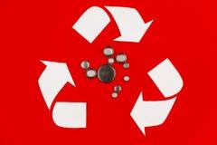 Batteries d'environnement d'écologie d'Eco réutilisant le concept de réutilisation images stock