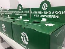 Batteries de boîte de collection Photos libres de droits