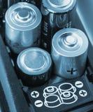 Batteries de chargement Photos libres de droits