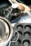 Batteries de cuisine Photos libres de droits