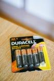 Batteries de Duracell Photo stock