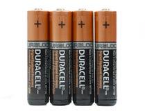 Batteries de Duracell réglées Photographie stock libre de droits