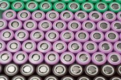 Batteries de l'ion 18650 de lithium image stock