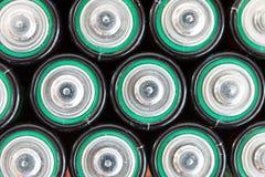 Batteries de rebut Photographie stock