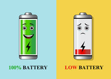 Batteries with different charge Royalty Free Stock Photo
