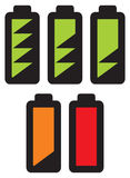 Batteries with different charge levels Stock Photography