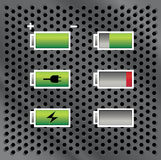 Batteries with different level of charge Royalty Free Stock Photography