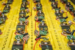 The batteries in electric car Royalty Free Stock Photo