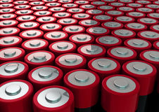 Batteries field Royalty Free Stock Photography